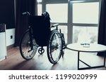 modern empty wheelchair stand...   Shutterstock . vector #1199020999