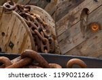 heavy chain in dockyard | Shutterstock . vector #1199021266