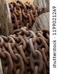 heavy chain in dockyard | Shutterstock . vector #1199021269