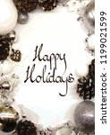 happy holidays handwritten... | Shutterstock .eps vector #1199021599
