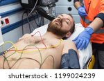 Ecg Electrodes On Patient Ches...