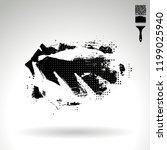 black brush stroke and texture. ...   Shutterstock .eps vector #1199025940
