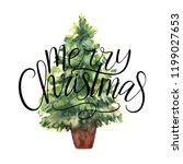 merry christmas vector text... | Shutterstock .eps vector #1199027653