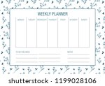 weekly planer template. vector. ... | Shutterstock .eps vector #1199028106