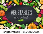 vegetables frame  page design ... | Shutterstock .eps vector #1199029036