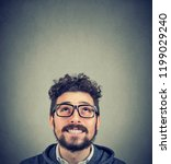 portrait of young hipster beard ... | Shutterstock . vector #1199029240