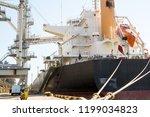 panamax bulk carrier loaded...   Shutterstock . vector #1199034823