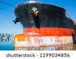 panamax bulk carrier loaded...   Shutterstock . vector #1199034856
