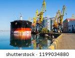 panamax bulk carrier loaded...   Shutterstock . vector #1199034880