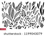 vector set of hand drawing wild ... | Shutterstock .eps vector #1199043079
