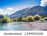 futaleufu river at patagonia ... | Shutterstock . vector #1199043103