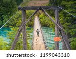 wooden bridge at futaleufu ... | Shutterstock . vector #1199043310