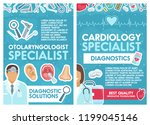 cardiology and otolaryngology... | Shutterstock .eps vector #1199045146