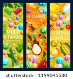 healthy organic food with... | Shutterstock .eps vector #1199045530