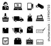 shopping icon set in black | Shutterstock .eps vector #119904733