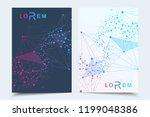 scientific brochure design...   Shutterstock .eps vector #1199048386