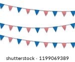 usa flag bunting decoration.... | Shutterstock .eps vector #1199069389