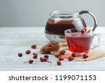 dried rose hip cup of herbal... | Shutterstock . vector #1199071153