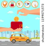 taxi and driver services in... | Shutterstock .eps vector #1199071573