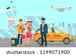 taxi and driver services in... | Shutterstock .eps vector #1199071900