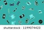 texture  seamless pattern of... | Shutterstock .eps vector #1199074423