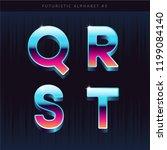 retro sci fi futuristic... | Shutterstock .eps vector #1199084140