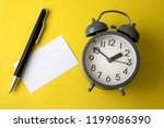 time concept with blank white... | Shutterstock . vector #1199086390