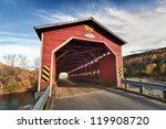 Wooden Covered Bridge In New...