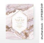 marble celebration invitation... | Shutterstock .eps vector #1199089249