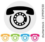phone icon   Shutterstock . vector #119909230