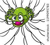 predatory spider web prey... | Shutterstock . vector #1199095783