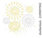 gold and bright firework on... | Shutterstock .eps vector #1199097943