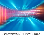digital code number abstract... | Shutterstock . vector #1199101066