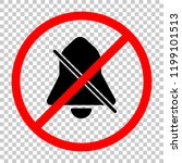 silent bell. simple icon. not... | Shutterstock .eps vector #1199101513