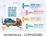 car after accident delivery... | Shutterstock .eps vector #1199102080