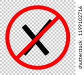 wrong mark icon. not allowed ... | Shutterstock .eps vector #1199102716