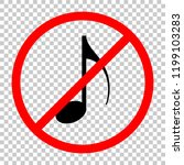 music note icon. not allowed ...