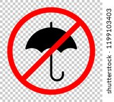 umbrella icon. not allowed ... | Shutterstock .eps vector #1199103403