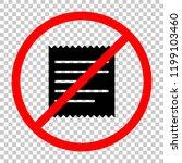 receipt icon. not allowed ... | Shutterstock .eps vector #1199103460