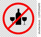 glasses and bottle. not allowed ... | Shutterstock .eps vector #1199104690
