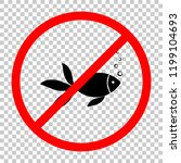 fish with bubbles icon. not... | Shutterstock .eps vector #1199104693