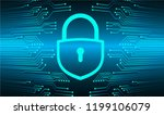 safety concept  closed padlock... | Shutterstock .eps vector #1199106079