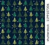 winter pattern background... | Shutterstock .eps vector #1199107306
