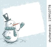 hand drawn vintage christmas...   Shutterstock .eps vector #119910778