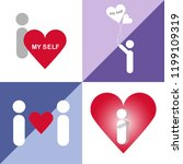 set love myself  i love myself... | Shutterstock .eps vector #1199109319