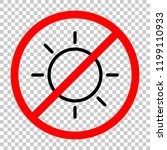 sun icon. linear  thin outline. ... | Shutterstock .eps vector #1199110933