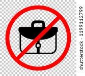briefcase  office bag. not... | Shutterstock .eps vector #1199112799