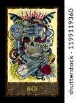 Death. Major Arcana Tarot Card. ...