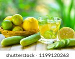 detox water drink with lemon... | Shutterstock . vector #1199120263