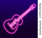 neon pink light lamp continuous ... | Shutterstock .eps vector #1199125456